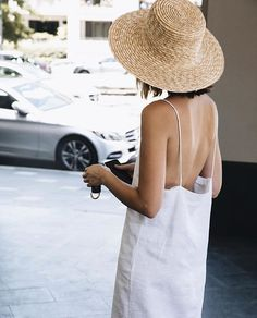 Wide-brim Straw Hat | @andwhatelse