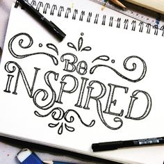 Be inspired #dndchallenge . . . . . . #calligrabasics #handmade #handtype #handdrawn #handlettered #handmadefont #handlettering #handmadefont #typism #typegang #typelove #typedaily #typespire #designspiration #thedailytype #thedesignindex #the100dayproject #thedesigntip #50words  #ilovetypography #customtype #goodtypography #lettering #letteringco #goodtype  #handletteredabcs #lineart #copic