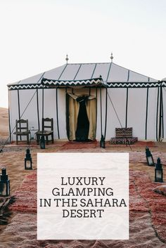 Luxury Glamping Adventure in the Sahara Desert, Morocco Luxus-Glamping-Abenteuer in der Sahara-Wüste, Marokko Visit Morocco, Morocco Travel, Africa Travel, Marrakech Travel, Vietnam Travel, Marrakesh, Marrakech Morocco, Cabana, Budapest