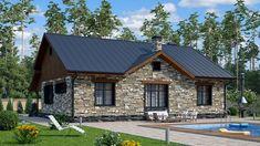 Красивый одноэтажный дом с оригинальным дизайном. Проект S-135 Interior Design Living Room, House Plans, Shed, Farmhouse, Outdoor Structures, House Design, How To Plan, House Styles, Building