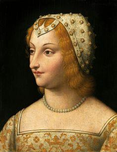 Venetian School of the 16th century portrait of Petrarch's favorite - Laura