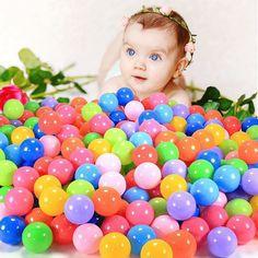 Play Balls, ZICA 110 Pcs Colorful Non-Toxic Kids Balls Crush Proof Swim Toys Plastic Soft Balls Pit Balls 6 Bright Colors,5.5cm/2.2inches (110)
