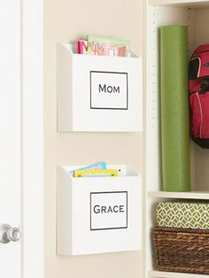 Mail Organization - I hate getting yelled at for opening mail that isn't mine.. great idea!
