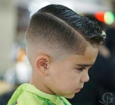 Fresh Pomp with Low Skin Fade - Toddler Boy Haircut