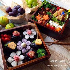 Japanese Lunch Box, Japanese Sushi, Cute Bento Boxes, Bento Box Lunch, Bento Kids, Kawaii Bento, Bento Recipes, Exotic Food, Food Decoration