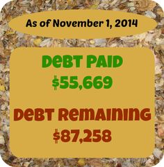 At Six Figures Under, we make our personal finances public. Here's a detailed report of our debt repayment and what we earn and spent in October 2014 .