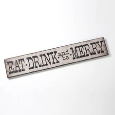 eat, drink and be merry sign by little red heart | notonthehighstreet.com