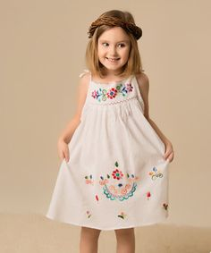 Another great find on #zulily! Little Cotton Dress White & Multicolor Lorena Dress - Infant, Toddler & Girls by Little Cotton Dress #zulilyfinds