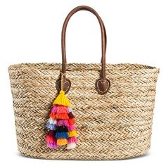 Beach tote that can stand up on its own. Women's Straw Tote Handbag - Merona™ : Target