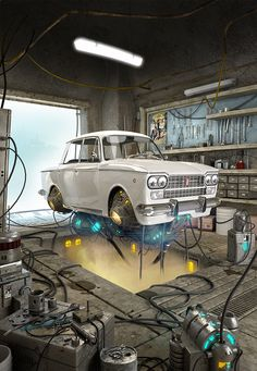 [image] Title: FLYING FIAT 1500 Name: Carmine Napolitano Country: Italy Software: Maya VRay Photoshop Submitted: October 2014 This model is based on Alejandro Burdisio's concept. Made with Maya and vray. Zbrush, Motion Design, Cgi, Hard Surface Modeling, 3d Modeling, 3d Cinema, Fiat Panda, Arte Cyberpunk, Flying Car