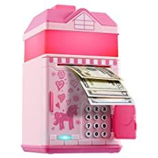 Money Safe Box, Money Saving Box, Money Bank, Toy Cars For Kids, Cool Toys For Girls, Minnie Mouse Toys, Savings Box, Baby Doll Accessories, Hello Kitty Birthday