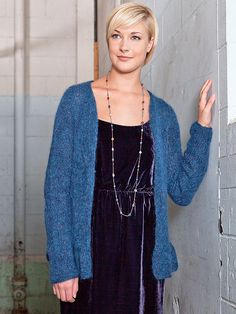 Free pattern A ruffled bottom edging lends femininity to this light and airy cardigan.