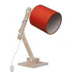 Luminária Articulada Laranja - Carambola - Carambola Luminárias Desk Lamp, Table Lamps, Diy Table, Lamp Design, Printer, Diy And Crafts, Woodworking, Lighting, Pixar