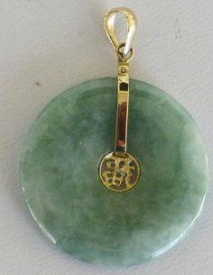 2012 sothebys jadeite chilong and diamond pendant oh jewelry 14k gold and jadeite jade circle donut pendant mozeypictures Choice Image