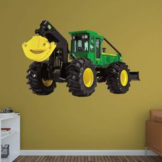 John Deere Combine Mural Fathead Wall Decal Ideas for the House