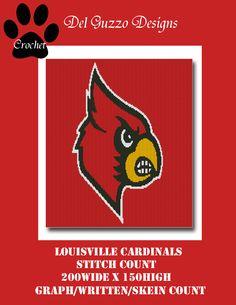 (4) Name: 'Crocheting : Louisville Cardinals Crochet Graph