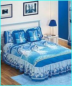 Dolphin Decorations for Ur Bathroom | Sea Dolphins Blue Bedding Sets - dolphin bed in a bag