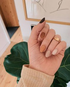 nails one color nails one color ; nails one color simple ; nails one color acrylic ; nails one color summer ; nails one color winter ; nails one color short ; nails one color gel ; nails one color matte Fall Gel Nails, Summer Acrylic Nails, Autumn Nails, Winter Nails, Simple Fall Nails, Fall Manicure, Nails Design Autumn, Cute Fall Nails, Fall Almond Nails