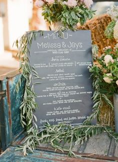 Love how the olive branches soften the chalkboard.... ooohhh...