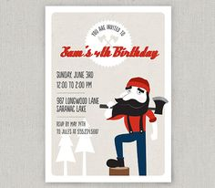 LumberJack Invitations | The timber, The o'jays and Invitations