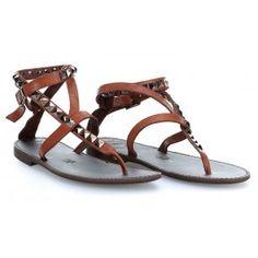wardow.com - #Campomaggi #shoe #sandal #clogs Sandals Schuhe glattes Rindsleder cognac