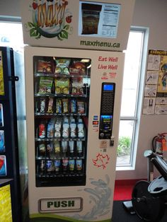 State of the art vending machines filled with Healthy Drinks and snacks