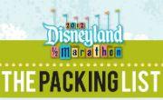 The Disneyland Half Marathon Packing List @Tiffany Marty