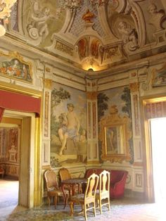 Villa Niscemi, Palermo, nowadays the representative office of the Mayor of Palermo .The artistic and cultural value of Villa Niscemi is truly remarkable. Historical note: the last tenants, Prince Corrado and his wife Maria inspired the characters Tancredi and Angelica in The Leopard.
