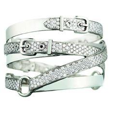 Hermès Débridée bracelet in white gold with diamonds #hermes #whitegold #diamonds