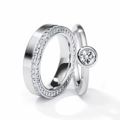 Henrich + Denzel - Acanto Trauringe / Verlobungsringe - 950 Platin - Diamanten +++ Henrich + Denzel - Acanto Wedding Rings / Engagement Rings - 950 Platinum - Diamonds