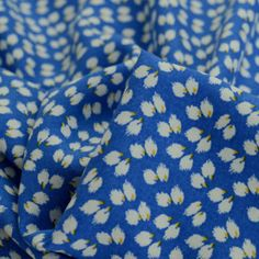 Visit our New and Re-stocked section to browse the new dress and craft fabrics which have come into stock. Find your perfect fabric today. Flower Dresses, Blue Dresses, 1950s Fashion Dresses, Summer Day Dresses, Vintage Dress Patterns, Dressmaking Fabric, Blue Flowers, New Dress, Floral