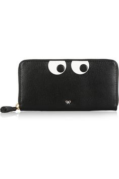 Anya Hindmarch | Eyes Down textured-leather continental wallet