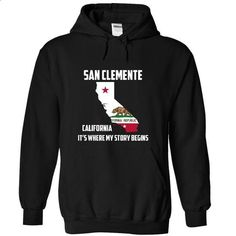 San Clemente California Its Where My Story Begins! Spec - #shirt diy #cardigan sweater. CHECK PRICE => https://www.sunfrog.com/States/San-Clemente-California-Its-Where-My-Story-Begins-Special-Tees-2015-3964-Black-13721537-Hoodie.html?68278