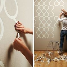 """""""Tear Off"""" Wallpaper by ZNAK  - Lovely - How cool is this idea too ? - Fantastic - I would use it, if not too $...- Another : """"Why didn't I think of that ? """", well, actually did try but nowhere as cool or effective as this. Obviously.-"""