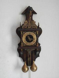 88da804e078e Reloj Antiguo De Pared Alemán Con Pesas Y Péndulo Estilo Holandes Da  Campanadas • 139.89€