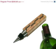 CIJ SALE Upcycled Wine Stopper  Maple and by BillsWoodenPleasures, $23.85