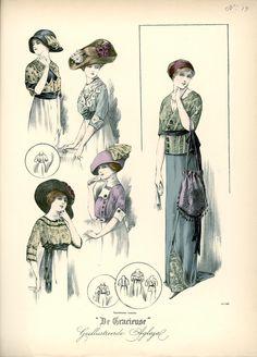 [De Gracieuse] Blouses en gekleed toilet (July 1911)