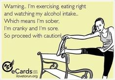 Funny exercise/healthy quote