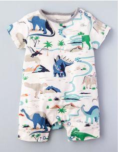 Summer Dinosaur Romper-Boden USA