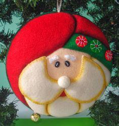 MOGOLLAS DE NAVIDAD PASO A PASO - Buscar con Google Christmas Balls, Christmas Crafts, Xmas, Christmas Ornaments, Christmas Ideas, Felt Ornaments, All Things Christmas, Applique, Santa