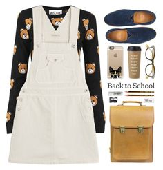 """Backpack"" by ino-6283 ❤ liked on Polyvore featuring Beara Beara, Moschino, AG Adriano Goldschmied, Toast, Casetify, A.J. Morgan, Kate Spade, Paper Mate, Monkey Business and L:A Bruket"
