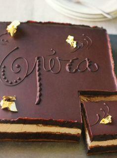 Opera cake   Eric Lanlard, Chocolat Layered Deserts, Baking Recipes, Cake Recipes, Opera Cake, Sweet Desserts, No Bake Cake, Love Food, Cake Decorating, Bakery