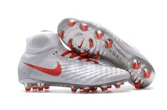 new arrival 0527e 0d918 Nike Magista Obra II FG Soccer Shoes Red Sliver on www.evensoccer.com Cool