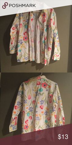 Apple seeds shirt 1hr sale Good condition Appleseeds Tops Button Down Shirts