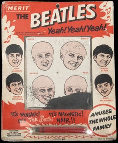 The Beatles Magnetic Hair Game, Merit 1964. British, mint in pack, very very rare. Usually found in Blackpool.//mar16