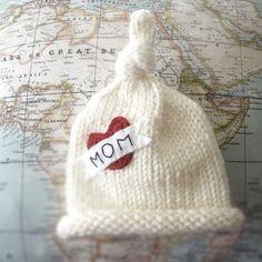 Love Mom Baby Hat