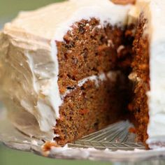 Delicious and moist, yet really healthy carrot cake recipe