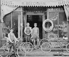 Vintage photo of the A.J. Gladwell Bicycle shop. .somewhere…(Matthew Woodall - Google+)