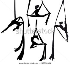 aerial hoop silhouette - Google Search #PoleDanceSilhouette