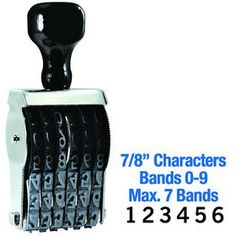 #Regular #Line #Number #Stamp 7/8 Character Size. Need a band stamp? Visit Acorn Sales and buy a Regular Line Number Stamp online at a reasonable price. Order one online!